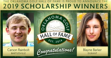 Barker, Rainbolt to receive Oklahoma Golf Hall of Fame scholarships