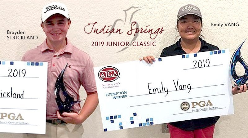 Strickland, Vang prevail in Player's Tour event at The Club at Indian Springs