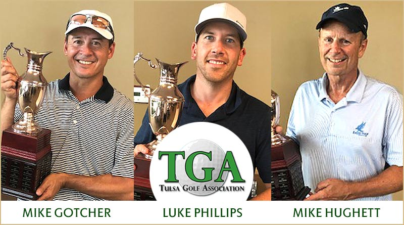 Gotcher, Phillips are co-champs in rain-shortened TGA Stroke Play Championship, Hughett wins Senior division