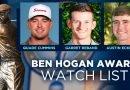 Cummins, Reband, Eckroat on Ben Hogan Award watch list