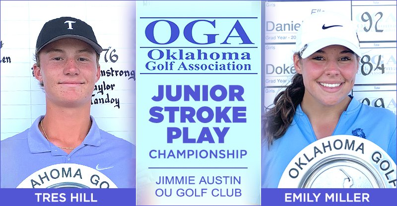 Hill, Miller win Junior Stroke Play Championship at Jimmie Austin OU Golf Club