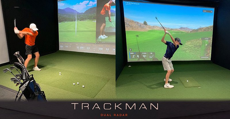 Indoor 18 offers TrackMan monitors, simulators for fun, game improvement