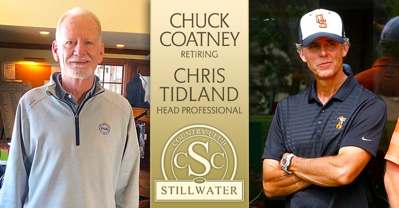 Tidland looks forward to new career, replaces Coatney as Stillwater CC head pro